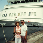 The Golden Odyssey on a trip to the Panama canal