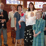 The family at Rachel's baptism