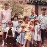 Pat's 65th Birthday with grandchildren