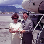 Travel attire in the 60s; looking sharp in Hawaii