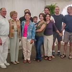 Families; Cheryl (Paul hiding) and clan
