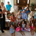 Pat's 90th; Great grandchildren