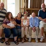 Pat's 90th; Lorraine and Del's kids, grandchild