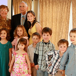 With the great-grandchildren at Anthony's 90th