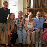 Pat's 90th; with Dave and Sita, Alonso, Sophia