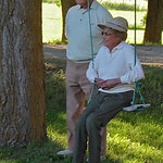 Weisel-McGarr Reunion; Mom and Dad on the swing