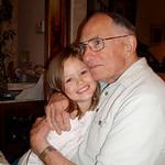 Anthony with great grandchild Lauren