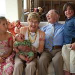 Pat's 90th; Naomi, Lorenzo, Sebastian, Jacob