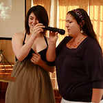Sarah and Marisa sing for Grandpa on his 90th