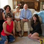 Pat's 90th; Tim, Fran with Sarah, Becca, Pete